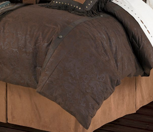 Cowgirl Kim Caldwell Faux Tooled Leather Comforter Set - Cowgirl Kim