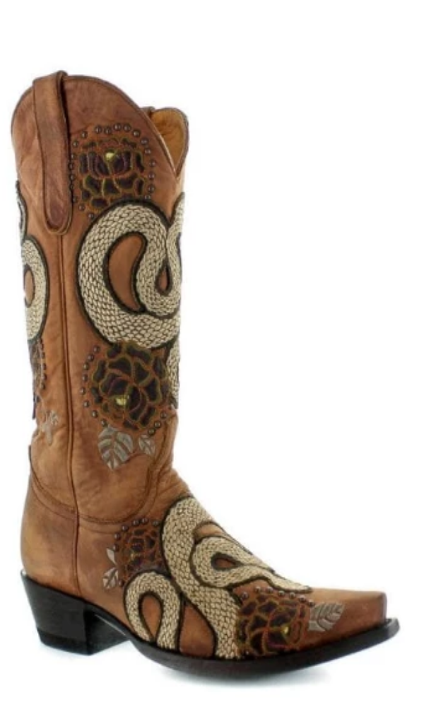 Old Gringo Currie Snake Boots~ Brass