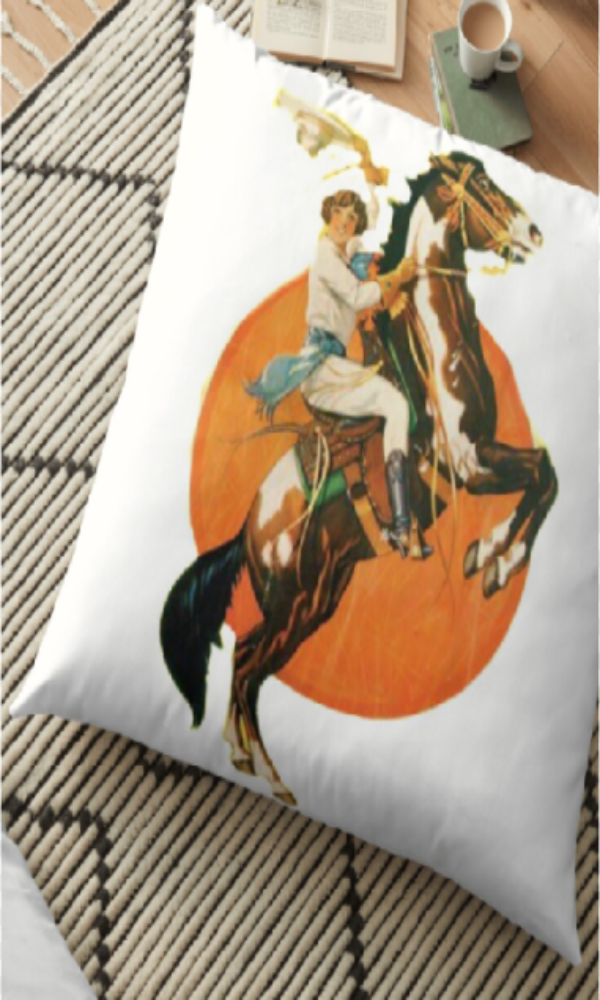 Cowgirl Kim Vintage Cowgirl Floor Pillow
