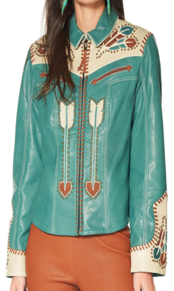 Double D Ranchwear Let's Smoke the Peace Pipe Jacket