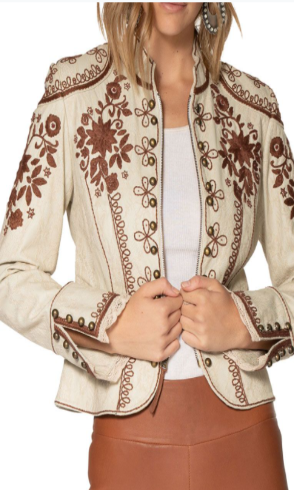 Double D Ranch Dona Diego Jacket - High Yo Silver & Bullwhip Brown