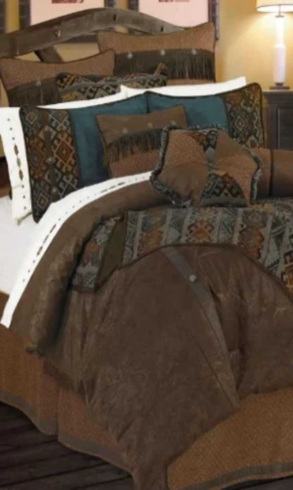 Cowgirl Kim Del Rio Faux Leather Comforter Set - Cowgirl Kim