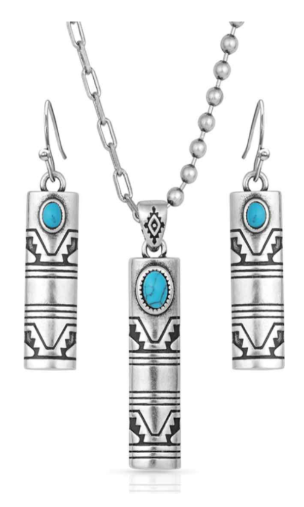 Montana Silversmith Western Stonehenge Buffed Jewelry Set - In Stock