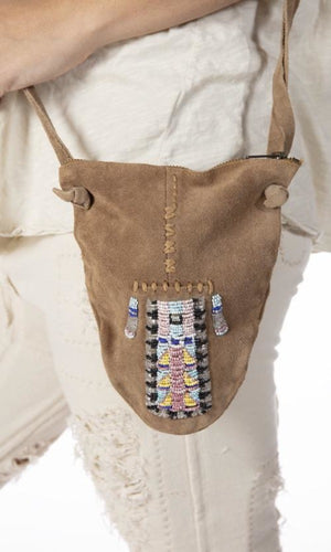 Magnolia Pearl Specialty Bag 116 Hand Beaded Leather Totem Bag