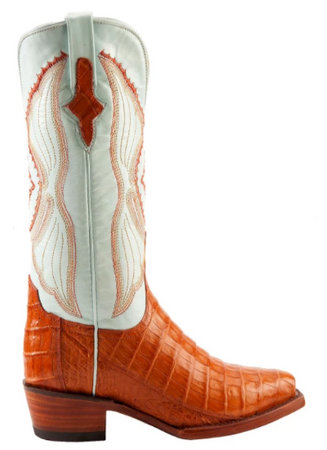 Ferrini Cowboy Lady Honey Caiman Boots - Cowgirl Kim