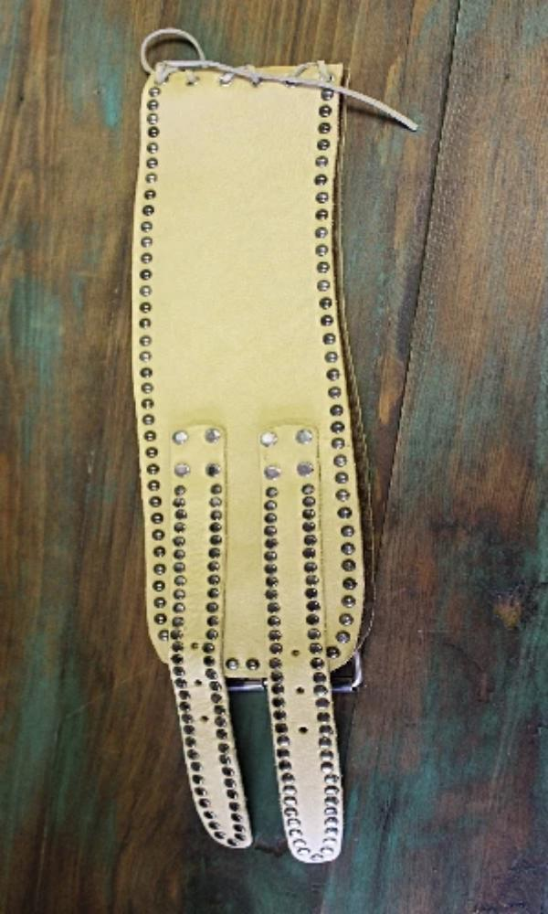 Juan Antonio Leather Corset Belt~ Buckskin