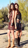Wild Instincts Mini Skirt~ Chocolate Brown - Cowgirl Kim
