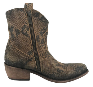 Liberty Black Susannah Short Fringe Boot~ Python Fileteado Verde - Cowgirl Kim