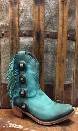 Liberty Black Janis Boot~ Turquoise - Cowgirl Kim