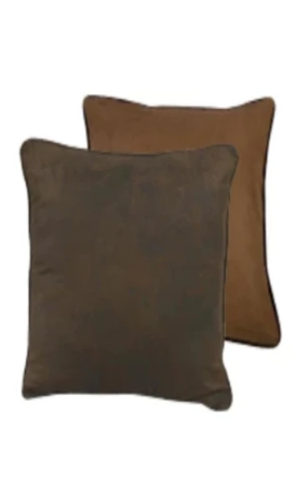 Cowgirl Kim Chocolate Faux Suede Euro Shams~ Shams Only