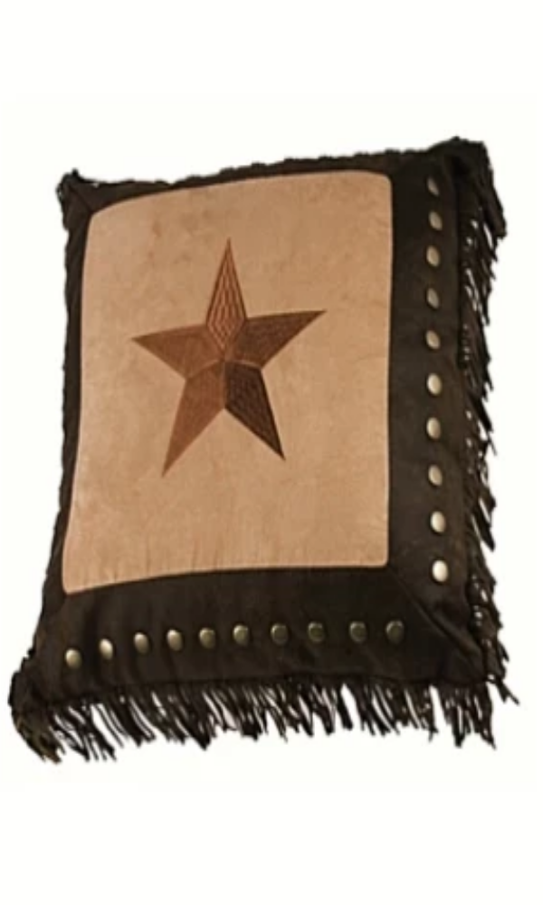 Cowgirl Kim Luxury Star Toss Pillow - Cowgirl Kim
