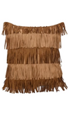 Cowgirl Kim Alternating Fringe Pillow - Cowgirl Kim