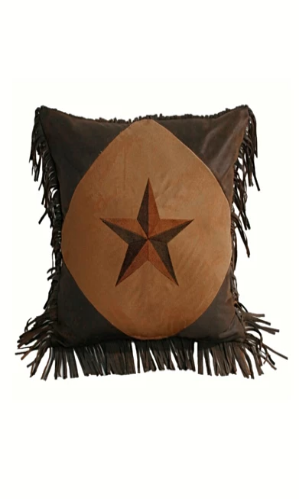 Cowgirl Kim Laredo Tan Star Pillow - Cowgirl Kim