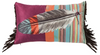 Cowgirl Kim Serape Indian Feather Oblong Pillow - Cowgirl Kim