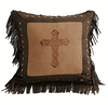 Cowgirl Kim Luxury Star Toss Pillow w/Cross - Cowgirl Kim