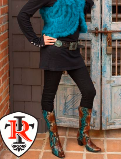 Rockwell Tharp ~Turquoise Leather Python