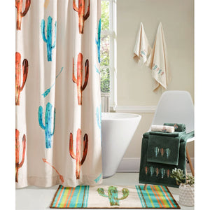 Cowgirl Kim Cactus Printed Shower Curtain - Cowgirl Kim