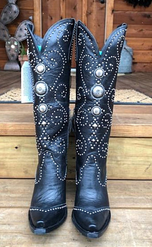 Cowgirl Kim Custom Black Sunshine Boots by Lane Boots - Cowgirl Kim