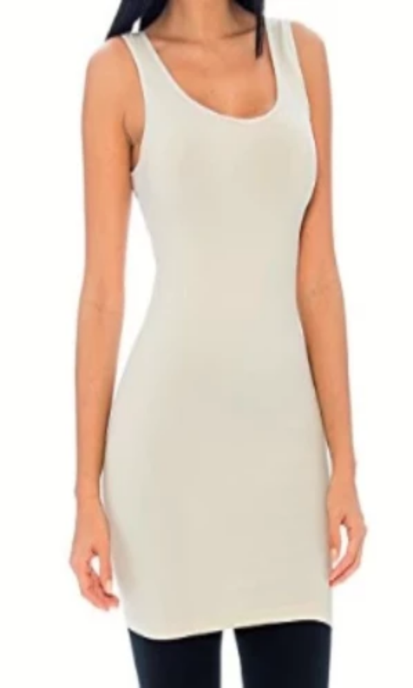 Sympli Sleeveless Oatmeal Lean Fingertip Dress - Cowgirl Kim