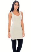 Sympli Sleeveless Oatmeal Lean Dress Fingertip
