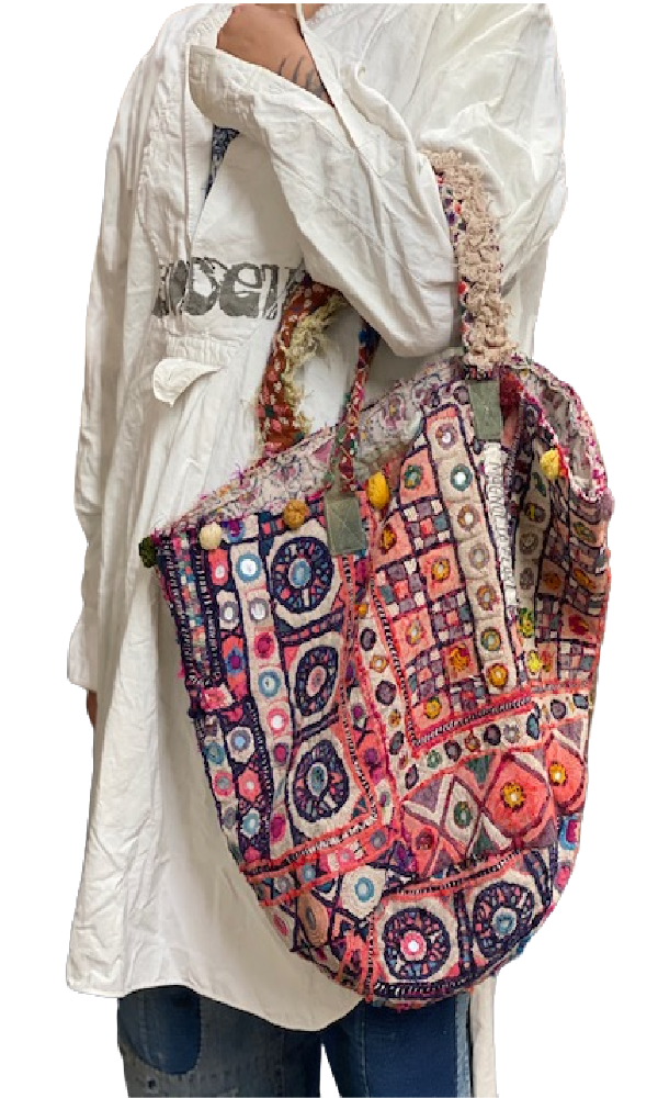 Magnolia Pearl Specialty Bag 187 Antique Textile Bucket Bag - One of a Kind