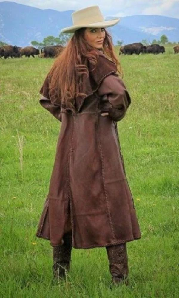Wild Instincts Wyoming Duster~ Chocolate Brown - Cowgirl Kim