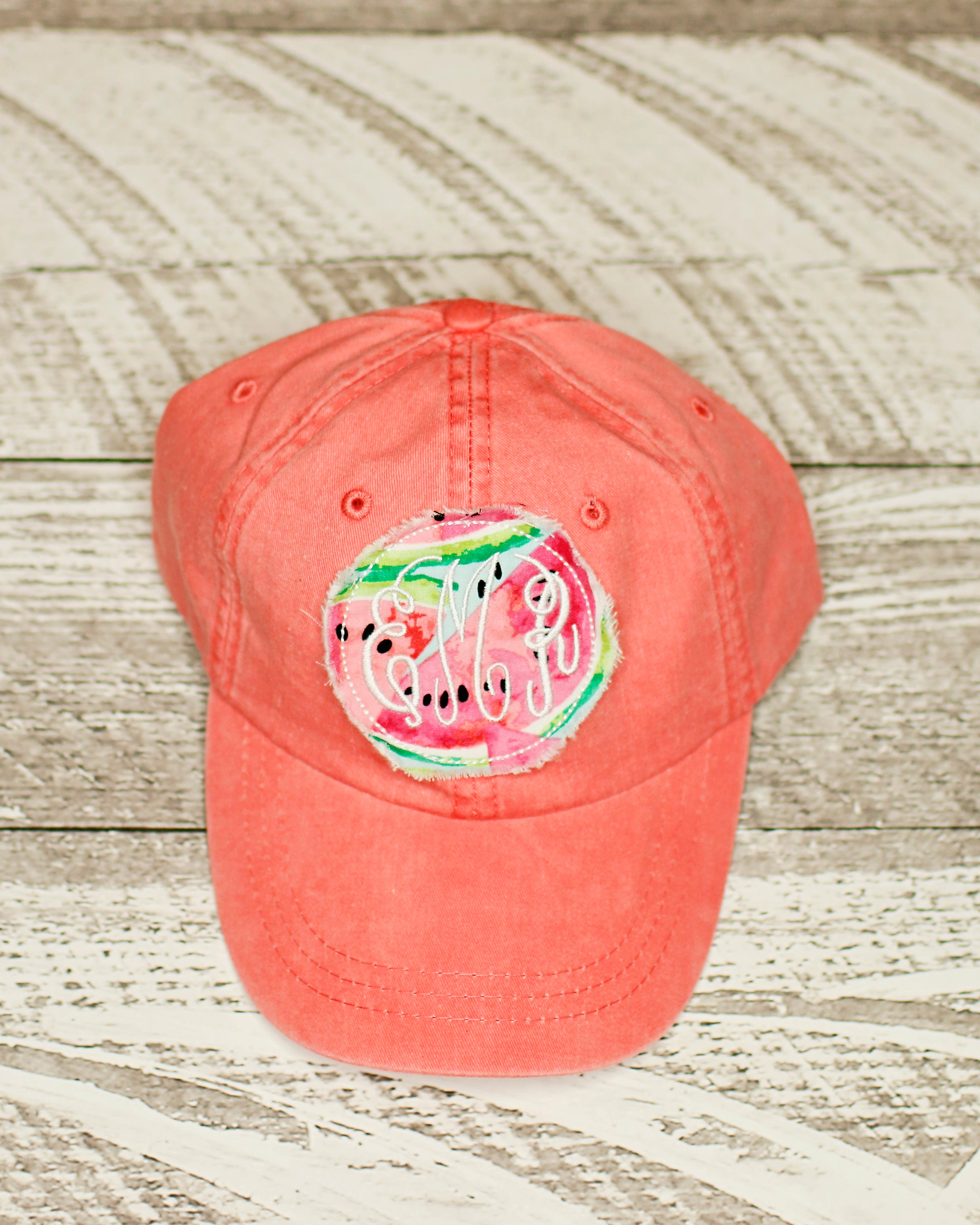 Applique Watermelon Coral Hat – Lala Lovelees 98fb54280019