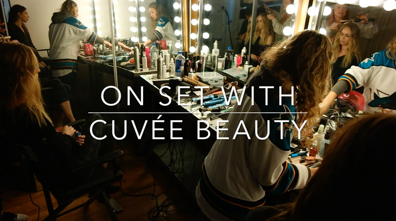 On Set With Cuvée Beauty
