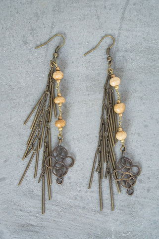 Regina Andrew Farrah Bone Fringe Earrings - Not Only Bags