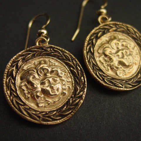 Vis à Vis Jewelry Shield of Medusa Earrings - Not Only Bags