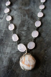 Regina Andrew Posy Pink Calcy and Chrysanthemum Necklace - Not Only Bags