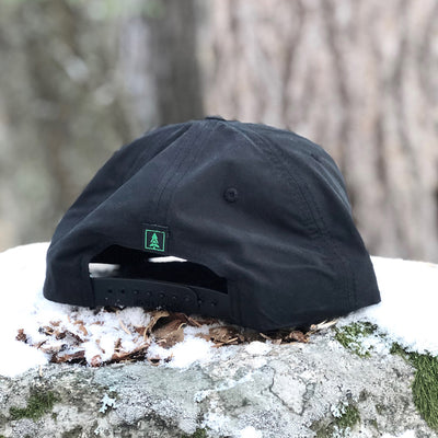 Mountain Tree Printed Patch <br> 5 Panel Vintage Cap with Rope - The Happy Clothing Company... Outdoor apparel with a cause.