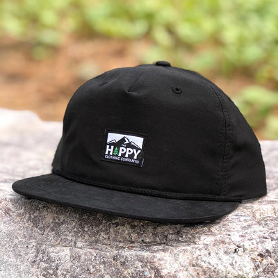 Logo Woven Label <br> 5 Panel Vintage Cap with Rope