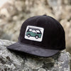 Live Life Simply (Ocean Van) Printed Patch <br> 6 Panel Corduroy Cap w/ Rope