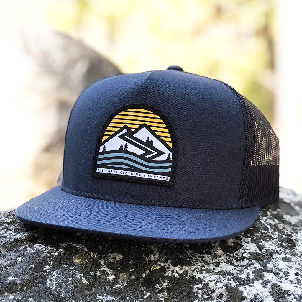Happiness Is Out There Printed Patch <br> High-Profile Snapback
