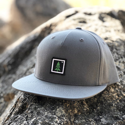 Mountain Tree Printed Patch <br> Pinch Front Twill Snapback
