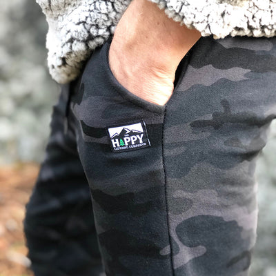 Men's Fleece <br> Branded Jogger-Style Sweats - The Happy Clothing Company... Outdoor apparel with a cause.