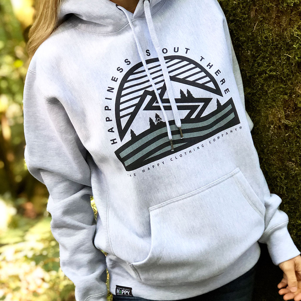 Happiness Is Out There | Cypress Waves | <br> Unisex ULTRA Heavyweight Hooded Sweatshirt