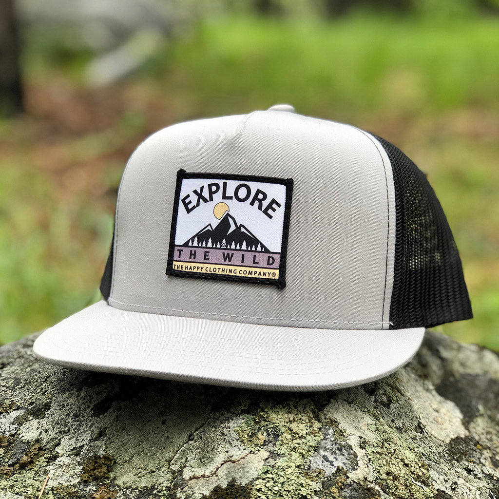 Explore The Wild Printed Patch <br> High-Profile Snapback - The Happy Clothing Company... Outdoor apparel with a cause.