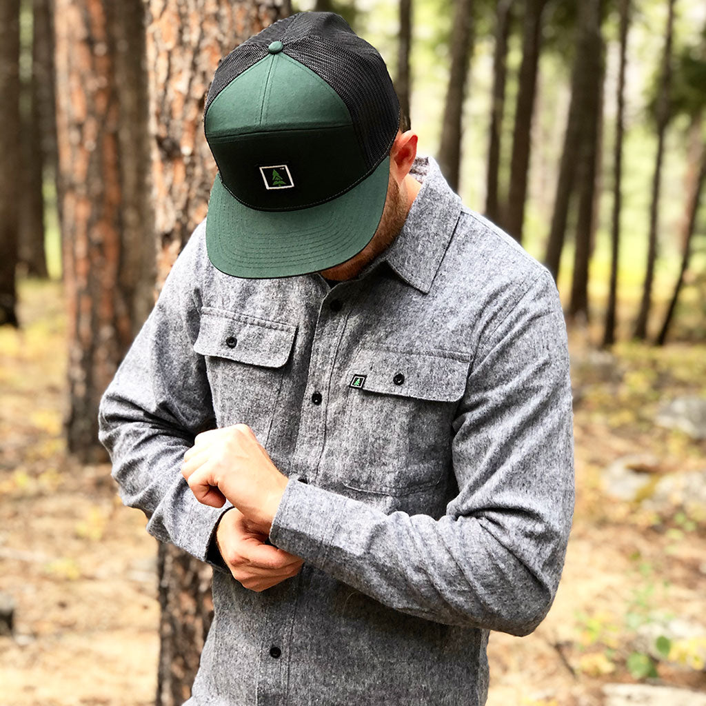 Men's Branded <br> Flannel Button-Up - The Happy Clothing Company