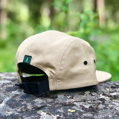 Logo Label <br> Vintage Low-Profile Explorer Cap - The Happy Clothing Company... Outdoor apparel with a cause.