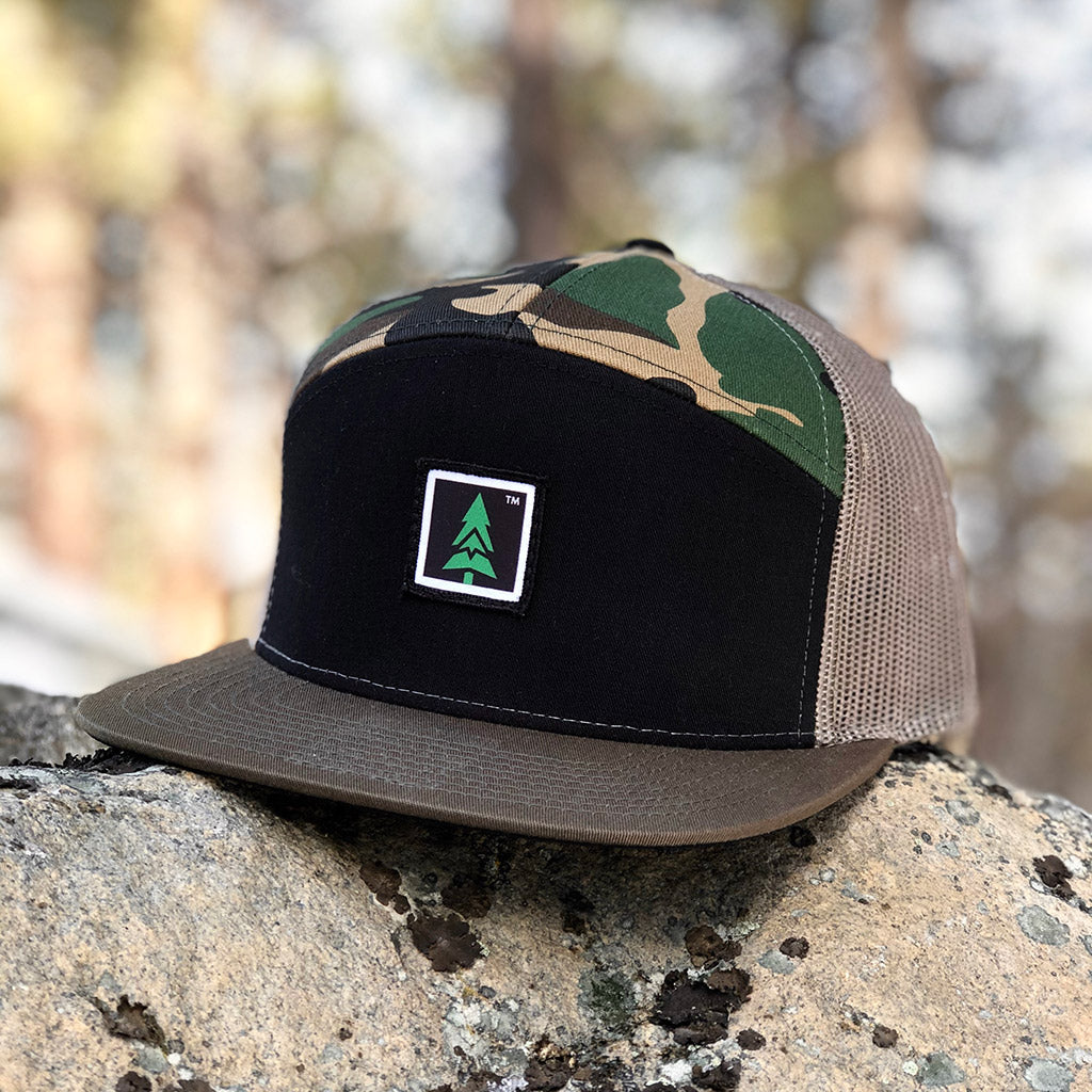 Mountain Tree Printed Patch <br> 7 Panel Cap