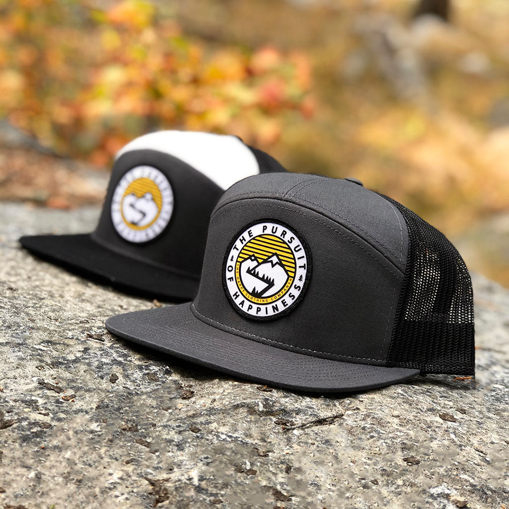 The Pursuit Of Happiness Printed Patch <br> 7 Panel Cap