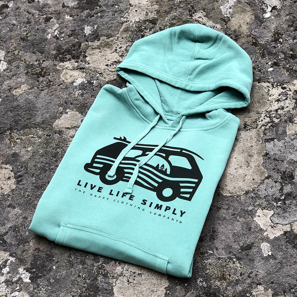 Live Life Simply (Ocean Edition) Inspired-Dye <br> Unisex Heavyweight Hooded Sweatshirt