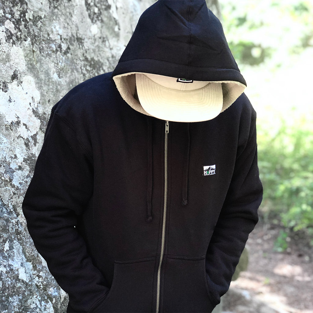 Logo Label Full-Zip <br> Unisex ULTRA Heavyweight Sherpa-Lined Hoodie