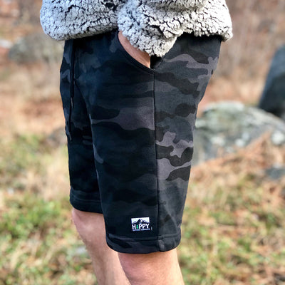 Men's Branded <br> Fleece Shorts - The Happy Clothing Company... Outdoor apparel with a cause.