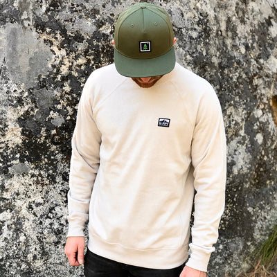 Logo Label Special Blend <br> Mid-weight Raglan Crewneck Sweatshirt