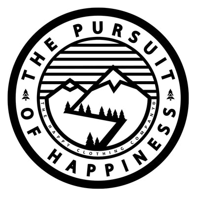 The Pursuit of Happiness Inspired-Dye <br> Unisex Midweight Hooded Sweatshirt - The Happy Clothing Company... Outdoor apparel with a cause.