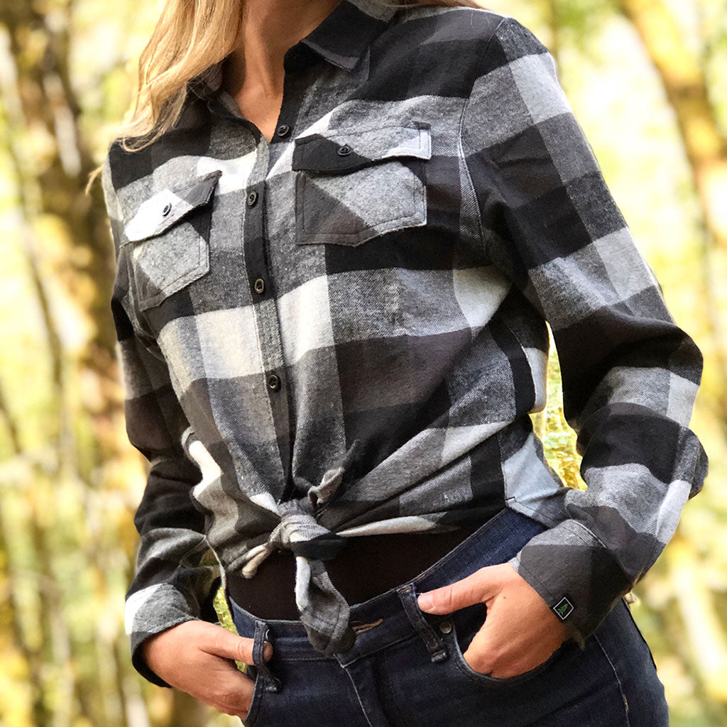Women's Plaid <br> Flannel Button-Up