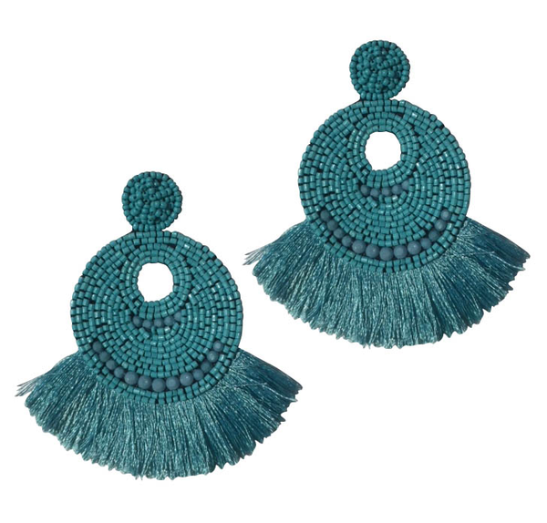 April Fringed Earring